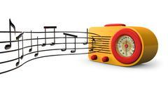 retro tunes - stock illustration
