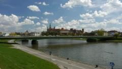 Panorama of Kraków Stock Footage