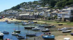 Mousehole Harbour, Mousehole, Cornwall, UK - stock footage