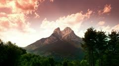 Pedraforca mountain spain Stock Footage
