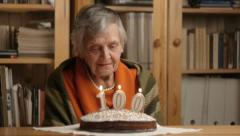 Grandmother's 100th birthday Stock Footage