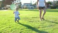 Toddler Walking Toward Camera Stock Footage