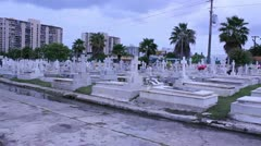 Hispanic cemetery 3 Stock Footage