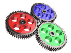 Gear system Stock Illustration