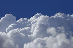 high altitude clouds - stock photo