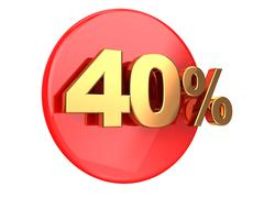 discount 40 percent - stock illustration
