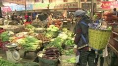 Shangrila market Stock Footage