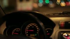 velocimetro de auto - stock footage