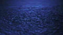 Heavy rain in puddle, Slow Motion Stock Footage