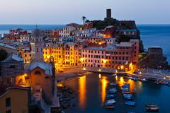 Stock Photo of morning in historical village vernazza, cinque terre, italy