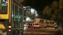 Cuidad buses Stock Footage