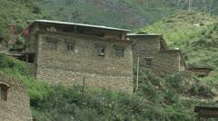 Shangrila village house Stock Footage
