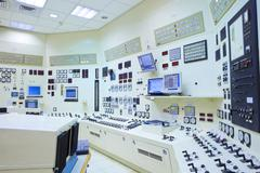 Power station control room Stock Photos