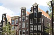 Stock Photo of Amsterdam Canal Houses