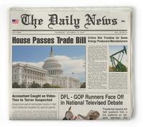 the daily news - stock illustration