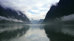 Norway Fjord morning - stock footage