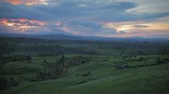 Bali Volcano sunrise Stock Footage