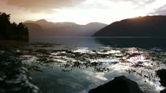 Norway Fjord sunset Stock Footage