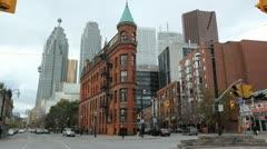 Toronto flatiron building. Stock Footage
