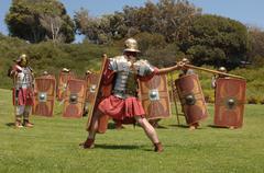Roman infantry Stock Photos