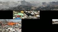 Pollution, split screen Stock Footage