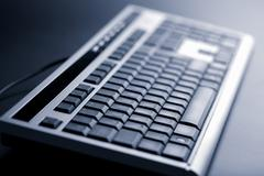 abstract dark keyboard - stock photo