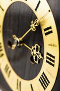 Stock Photo of antique clock dial with arabic numerals