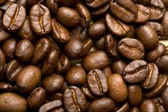 Roasted coffee beans background Stock Photos