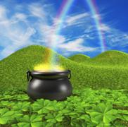 End of the rainbow Stock Illustration