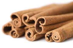 Cinnamon isolated Stock Photos