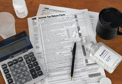 Tax season Stock Photos