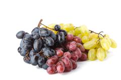 Colorful ripe grapes isolated Stock Photos