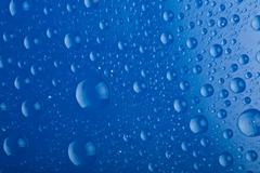 blue water droplets background - stock photo
