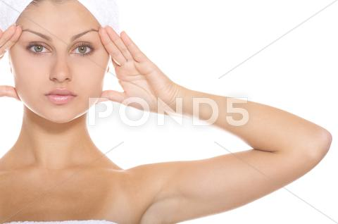 Stock photo of Woman getting ready for the spa treatment