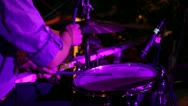 Stock Video Footage of musician playing drums; musico tocando bateria