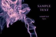 abstract smoke background with copyspace - stock photo