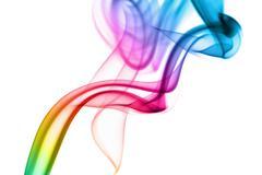 Stock Photo of abstract rainbow smoke background
