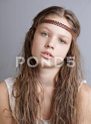 Stock photo of Sad little girl
