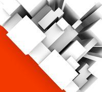 Yksinkertainen abstrakti tausta punainen kolmio Piirros
