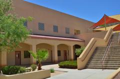 modern school campus - stock photo
