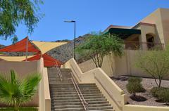 Modern school campus Stock Photos