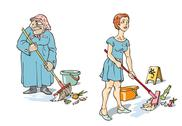 Stock Illustration of Maids