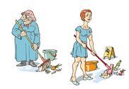 Maids Stock Illustration