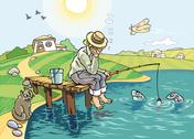 Stock Illustration of The Fishing