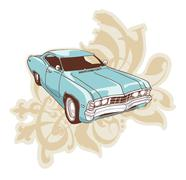 Chevrolet Impala Low-rider - stock illustration