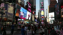 Times sq Stock Footage