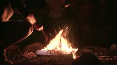 Stock Video Footage of Bonfire
