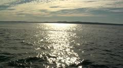 Sunlight Shimmering On Ocean - stock footage