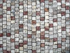 Photo of tile texture ground brown and grey Stock Photos