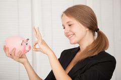 happy saver - stock photo